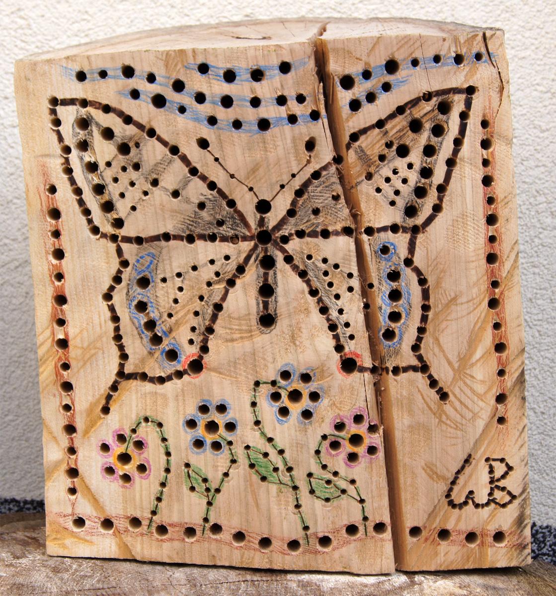 Nistblock Schmetterling Fuchsloch Kl