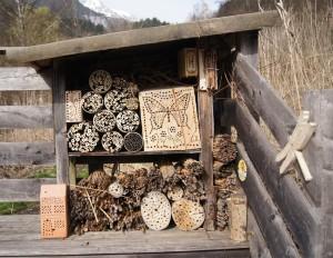 Wildbienen-Nisthilfen im Fuchsloch