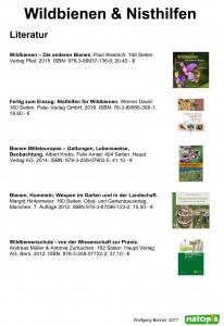 Wildbienen & Nisthilfen_Literatur