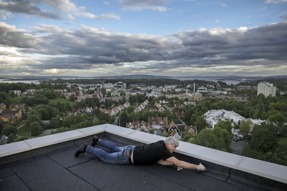 Jon Larsen Is A Micrometeorite Expert Based In Oslo. He Uses A Magnete On Rooftops To Collect Dust. Then He Search Trough All The Dust, Searching For Stardust.  Photo: Espen Rasmussen
